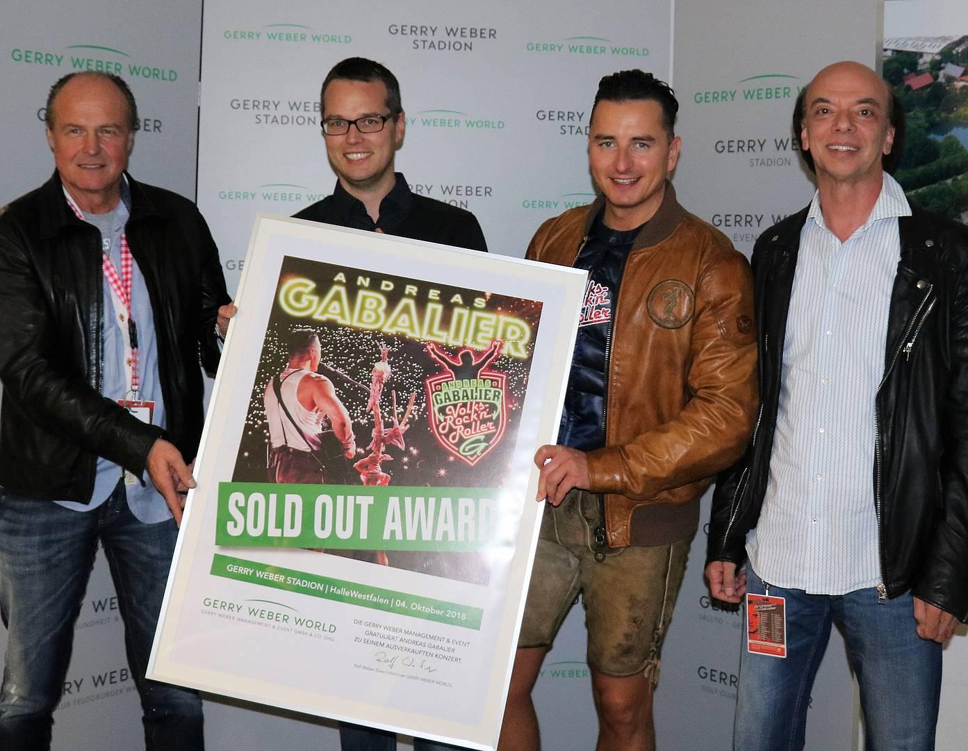 Konzert Andreas Gabalier Volks Rocknroller Erhält Sold Out Award